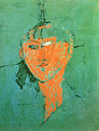 Amedeo Modigliani : Head of Young Woman 1915 : $249