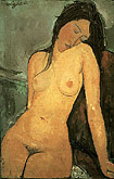 Amedeo Modigliani : Seated Nude 1916 : $259