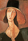 Amedeo Modigliani : Jeanne in Straw Hat 1917 : $255