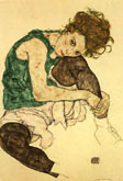Egon Schiele : Seated Woman 1917 : $257