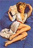 Pin Ups : Gil Elvgren He Thinks Im Too Good to Be True 1947 : $269