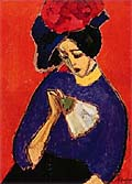 Alexej von Jawlensky : Lady with fan : $245