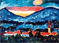Alexej von Jawlensky : Village and Mountains 1910 : $249