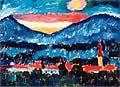 Alexej von Jawlensky : Village and Mountains 1910 : $249