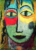 Alexej von Jawlensky : Tete de Femme Meduse : $255