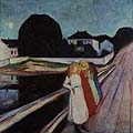 Edvard Munch : Four Girls on a Bridge : $265
