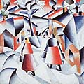 Kasimir Malevich : Morning in the Village : $275