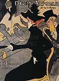 Henri Toulouse Lautrec : Le Divan Japonais : $255