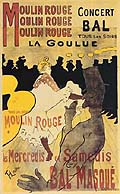 Henri Toulouse Lautrec : Moulin Rouge La Goulue : $269