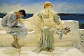 Sir Lawrence Alma Tadema : Ask Me No More : $325