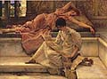 Sir Lawrence Alma Tadema : The Favourite Poet : $325