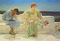 Sir Lawrence Alma Tadema : Young Lovers : $329