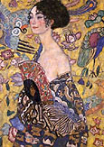 Gustav Klimt : Lady with Fan 1917 : $279