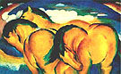 Franz Marc : The Small Yellow Horse 1912 : $259