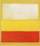 Mark Rothko : No 13 White Red on Yellow : $269
