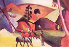 August Macke : Indians on Horseback : $269