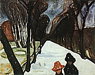 Edvard Munch : Snow Falling in the Lane  1906 : $269