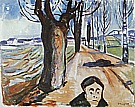 Edvard Munch : The Murderer in the Lane  1919 : $279