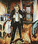 Edvard Munch : Self portrait (in distress)  1919 : $285