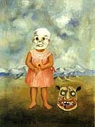 Frida Kahlo : Girl With Death Mask : $269