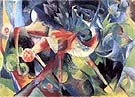 Franz Marc : Deer in a Flower Garden : $269