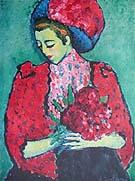 Alexej von Jawlensky : Girl with Peonies : $269