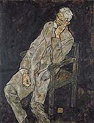 Egon Schiele : Portrait of Johann Harms 1916 : $275