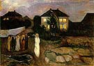 Edvard Munch : The Storm : $275