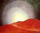 Georgia O'Keeffe : Red Hills with Sun : $265