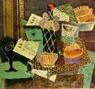 Pablo Picasso : Still Life with Bottle of Rum 1914 : $285