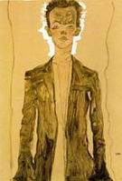 Egon Schiele : Self-Portrait 1910 : $279