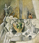 Pablo Picasso : Carafe, Jug, and Fruit Bowl 1909 : $269