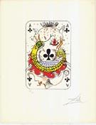 Salvador Dali : Ace of Clubs : $275