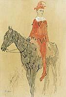 Pablo Picasso : Harlequin on Horseback : $285