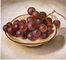 Georgia O'Keeffe : Grapes on White Dish Dark Rim 1920 : $245