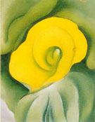 Georgia O'Keeffe : Yello Calla Lily No 3 1927 : $275