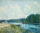 Alfred Sisley : The Banks of the Oise c1877 : $279