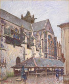 Alfred Sisley : The Church at Moret in the Rain  : $279