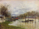 Alfred Sisley : The Flood on the Road to Saint Germain 1876 : $275