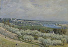 Alfred Sisley : The Terrace at Saint Germain Spring 1875 : $279
