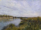 Alfred Sisley : View of Saint Mammes c1880 : $279