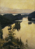 Albert Edelfelt : Kaukola Ridge at Sunset c1889 : $275