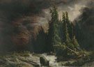 Alexandre Calame : Strom over the Handeck 1839 : $279