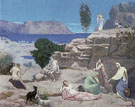 Pierre Puvis de Chavannes : Vision Antique Vision of Antiquity Symbol of Form c1885 : $279