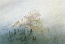 Casper David Friedrich : Morning Fog in the Mountains c1807 : $279