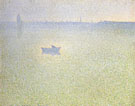 Charles Angrand : The Seine at Dawn Mist 1889 : $279