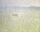 Charles Angrand : The Seine at Dawn Mist 1889 : $279