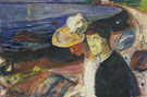 Edvard Munch : Man and Woman on the Beach 1907 : $275