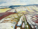 Edvard Munch : Melting Snow Elgersburg 1906 : $275