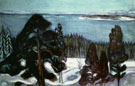 Edvard Munch : Winter Night c1900 : $275